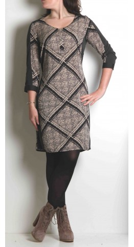 Sandwich Clothing Graphite Print Jersey Dress