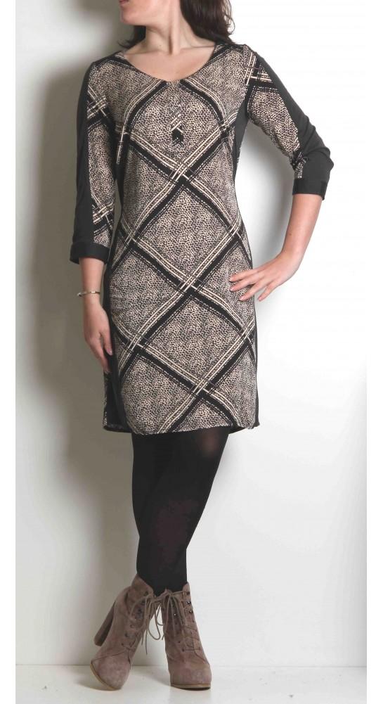 Sandwich Clothing Graphite Print Jersey Dress