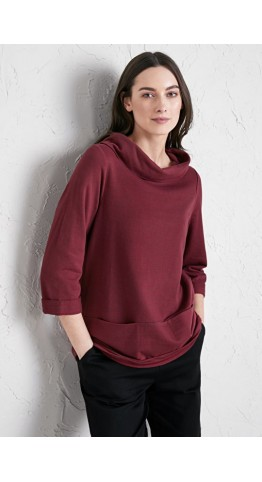 Seasalt Clothing Brehat Sweatshirt Tumble Cherry