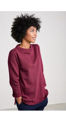 Seasalt Clothing Bareroot Sweatshirt Clove