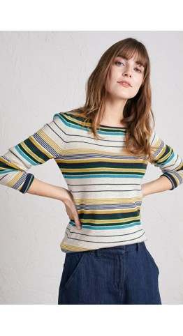 Seasalt Clothing Brill Jumper Village Green Multi