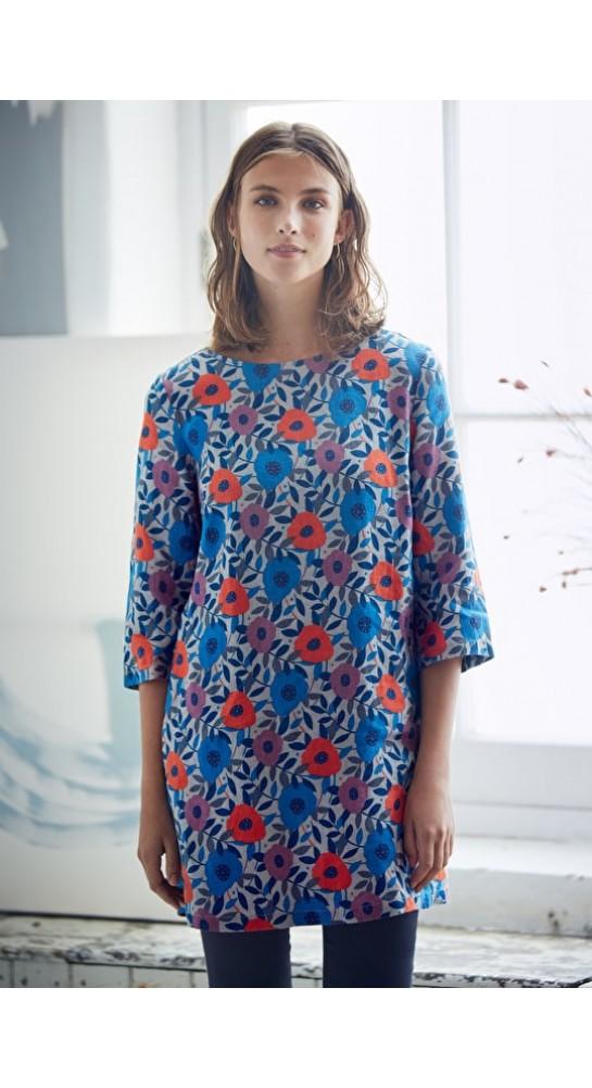 Seasalt Clothing Sol Blaze Tunic Flower Collage