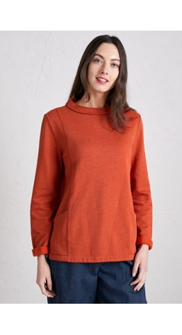 Seasalt Clothing Bareroot Sweatshirt Dark Satsuma