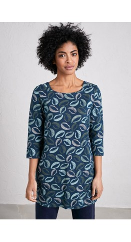 Seasalt Clothing Rocky Path Tunic Stencil Leaf