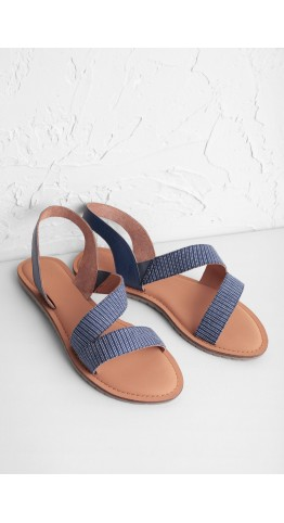 Seasalt Clothing Sun Terrace Sandal Stripe Night