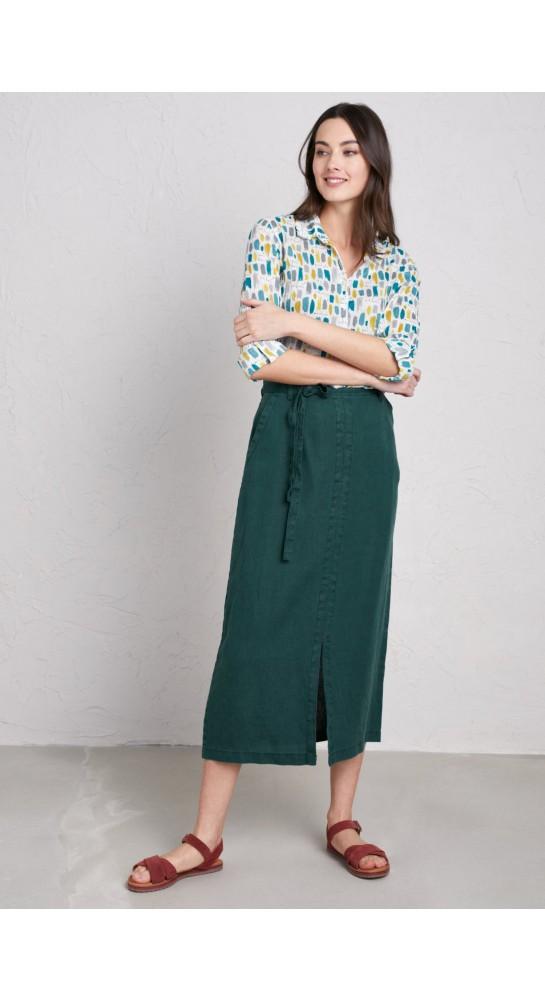 Seasalt Clothing Pencil Lead Skirt Verte