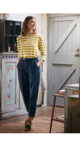 Seasalt Clothing Sailor Top Cornish Hay Chalk