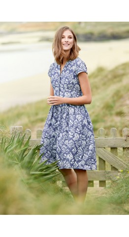 Seasalt Clothing Beatrice Dress Seaweed Indigo