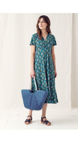 Seasalt Clothing Chapelle Dress Seaweed Indigo