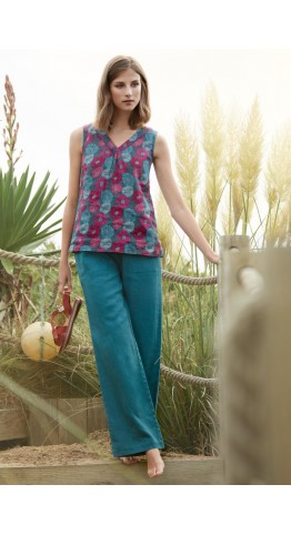 Seasalt Clothing Phormium Top Sea Bloom Freesia