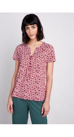 Seasalt Clothing Cassandra Top Lino Sunflower Charm