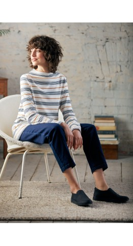 Seasalt Clothing Oceangoing Sweatshirt Gwennol Ecru Magpie