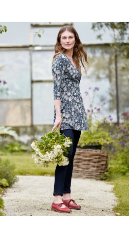 Seasalt Clothing Marram Grass Tunic Sketched Hedgerow Magpie