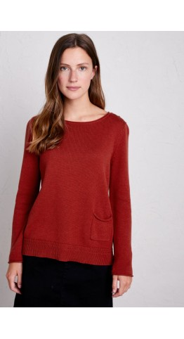 Seasalt Clothing Fillial Jumper Umber