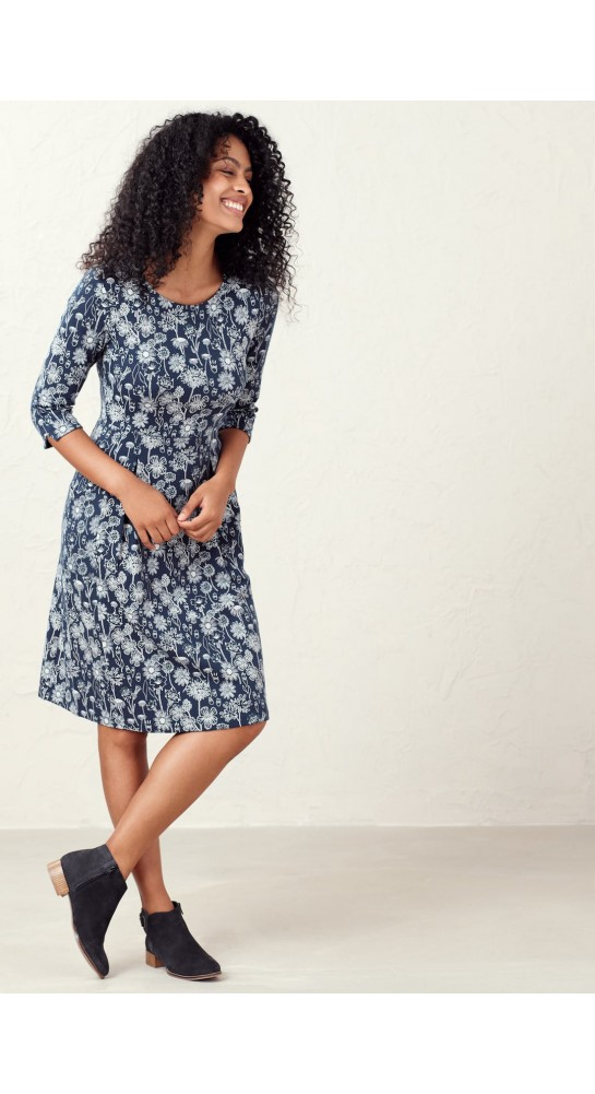 Seasalt Clothing South Border Dress Sketched Hedgerow Magpie