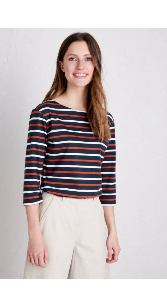Seasalt Clothing Sailor Top Duet Magpie Cinnamon