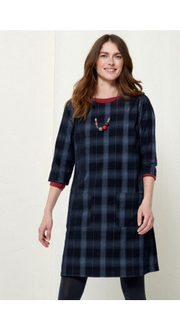 Seasalt Clothing North Cliffs Dress Enamelling Dark Night