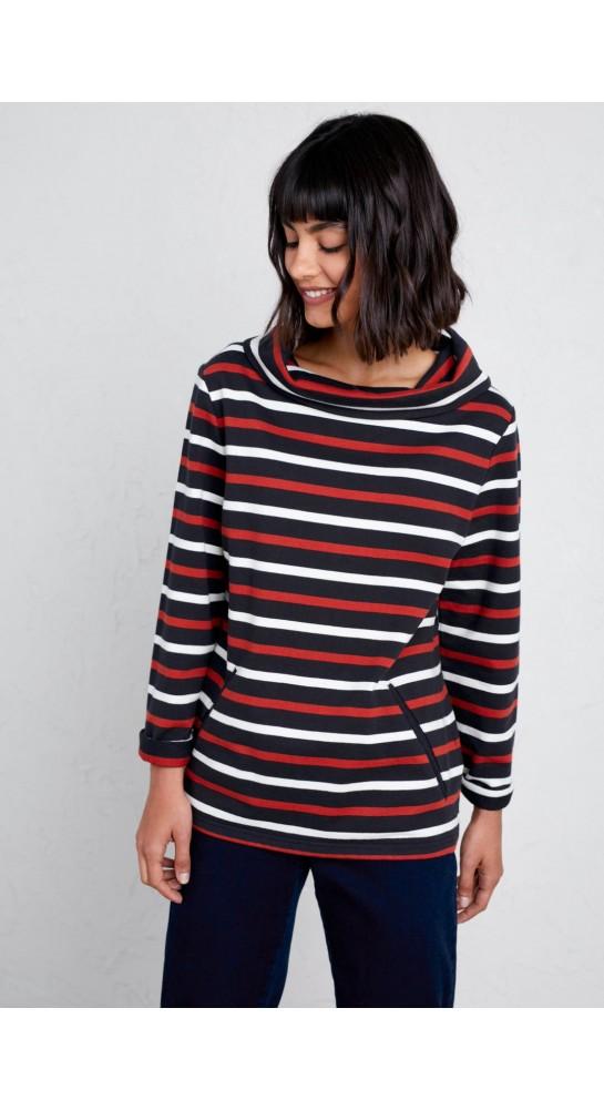 Seasalt Clothing Boslowick Sweatshirt Evening Tide Dark Night Masala
