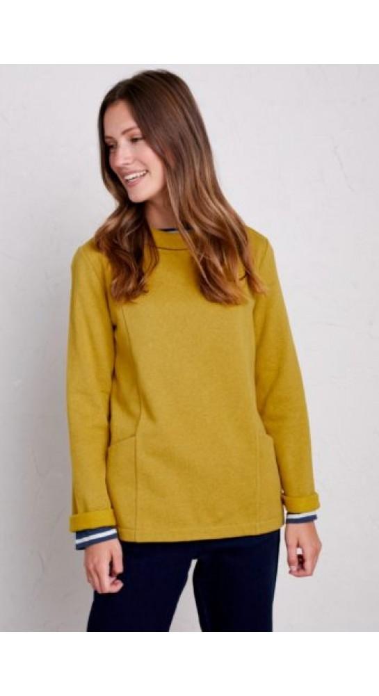 Seasalt Clothing Bareroot Sweatshirt Tansy