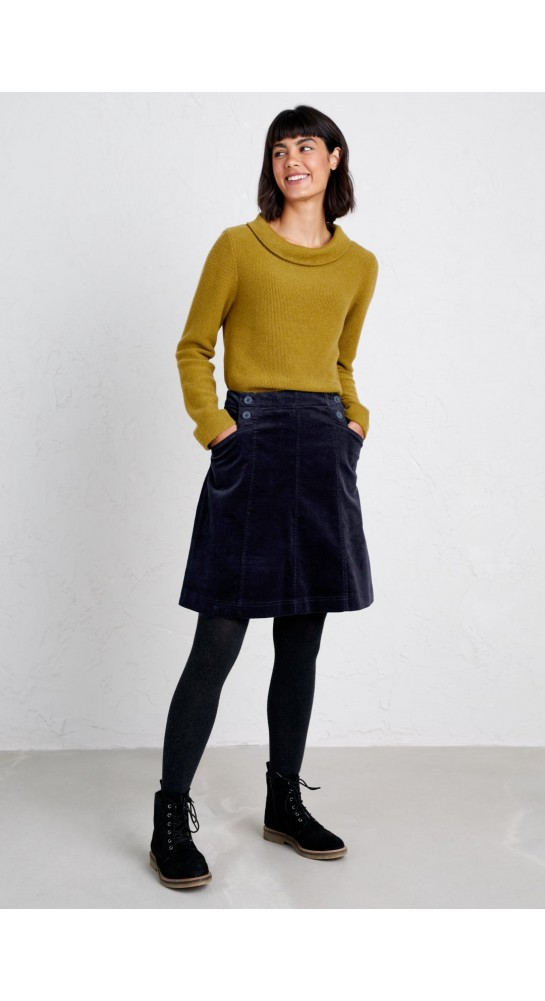 Seasalt Clothing Autumn Feast Skirt Dark Night