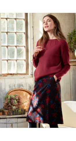Seasalt Clothing Brume Skirt Burnished Blooms Flag