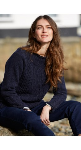 Seasalt Clothing Tide And Time Jumper Night