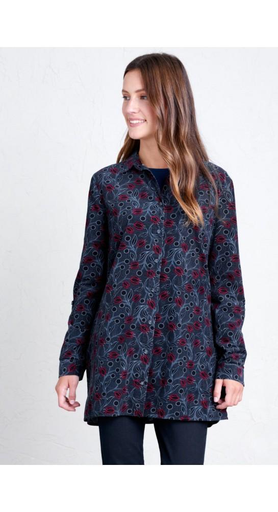 Seasalt Clothing Emma Shirt Hammered Floral Dark Night
