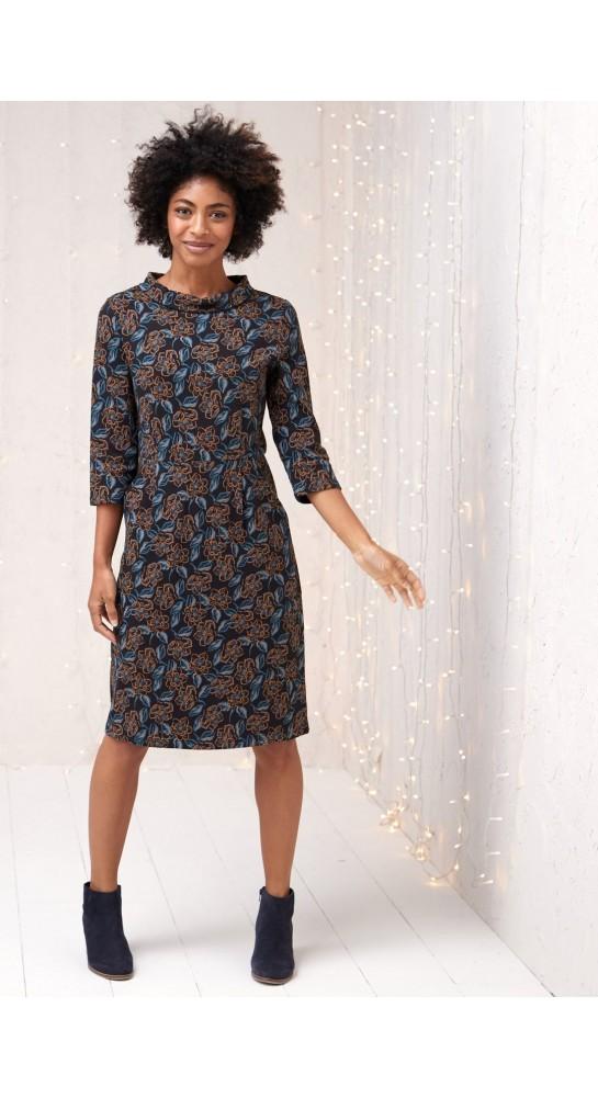 Seasalt Clothing Cleats Dress Brushed Magnolia Dark Night