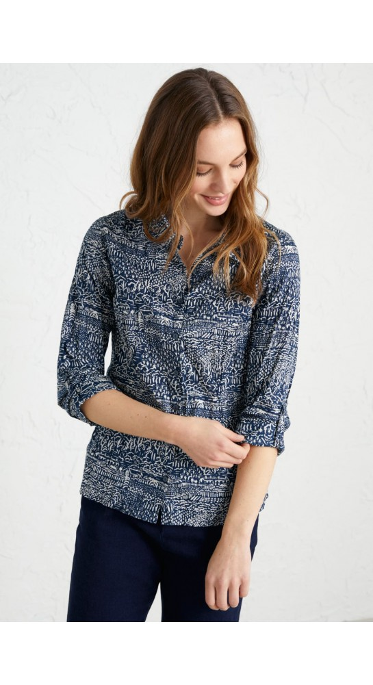 Seasalt Clothing Larissa Shirt St Martins Landscape Harbour