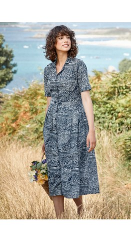 Seasalt Clothing Charlotte Dress St Martins Landscape Harbour