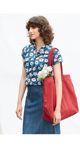 Seasalt Clothing Rushmaker Shirt Daisy Stem Swell