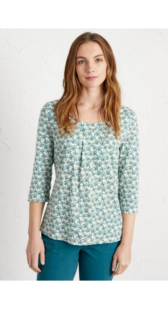 Seasalt Clothing Coastal Scene Top Coastal Daisy Waterscape