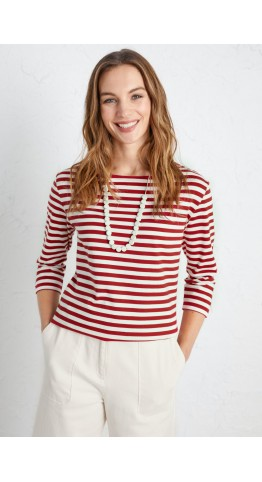 Seasalt Clothing Sailor Top Mini Cornish Rudder Chalk