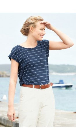 Seasalt Clothing Causeway Top Upsurge Harbour Salt
