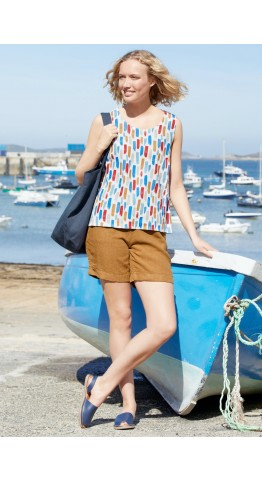 Seasalt Clothing Dreamscape Top Boat Paint Stripes Lagoon