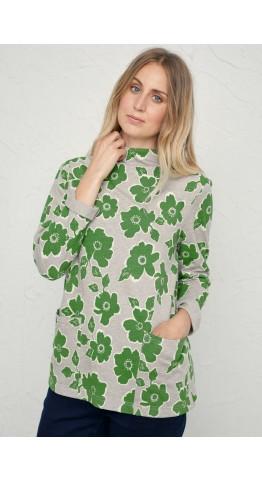 Seasalt Clothing Oceangoing Sweatshirt Penwith Bloom Field Green
