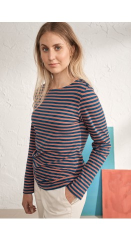 Seasalt Clothing Low Light Top Turnchapel Raincloud Ripe Orange