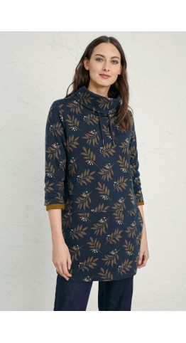 Seasalt Clothing Gwenver Sweatshirt Tree Leaf Raven