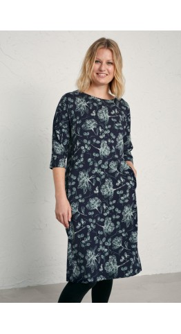 Seasalt Clothing Chapel Cliff Dress Passmore Foliage Raven