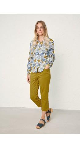 Seasalt Clothing Larissa Shirt Chalked Blooms Wild Pansy