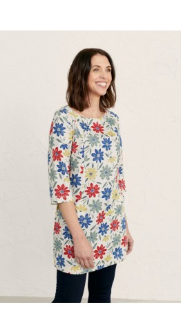 Seasalt Clothing Into Land Tunic Painted Cosmos Mix