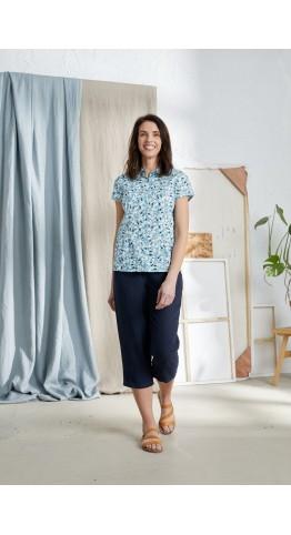 Seasalt Clothing Rushmaker Shirt Magnolia Flower Coastline