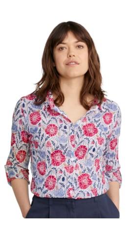 Seasalt Clothing Larissa Shirt Lino Poppies Chalk