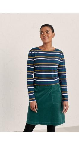 Seasalt Clothing Tri Breton Rich Blue
