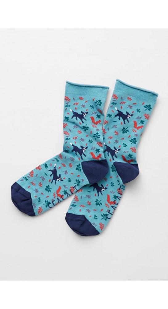 Seasalt Clothing Arty Socks Chasing Squirrels Sea