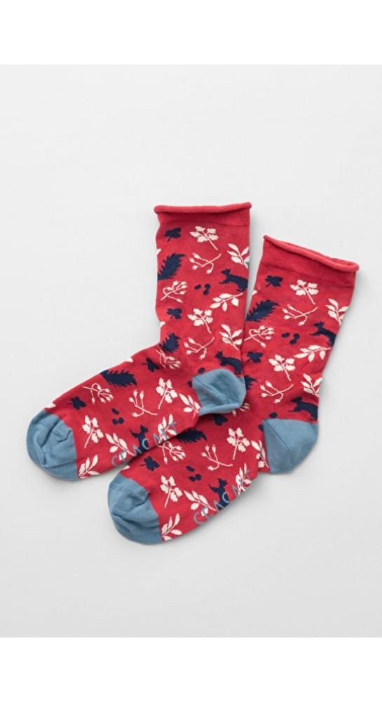 Seasalt Clothing Arty Socks Squirrel Umber