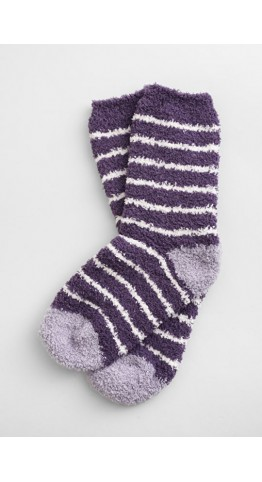 Seasalt Clothing Short Fluffies Socks Breton Sloe