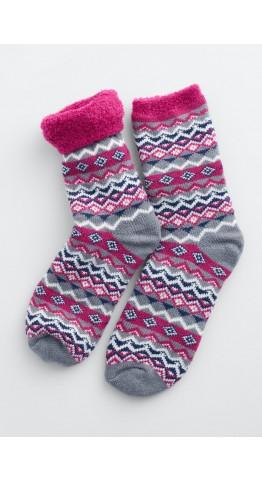 Seasalt Clothing Cabin Socks Aspect Berry