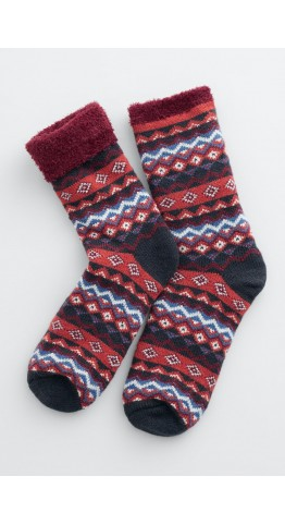 Seasalt Clothing Cabin Socks Aspect Rich Red