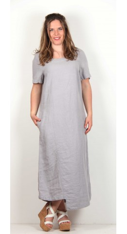 Shepards Linen Midi Dress Steel